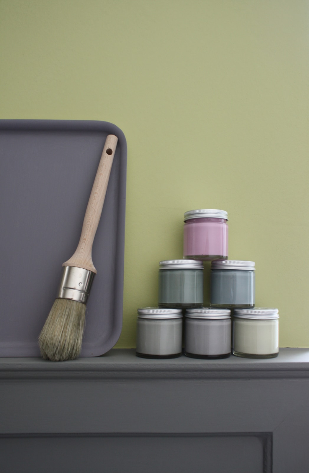 VIA-Kreidefarbe-Gläschen-Pinsel