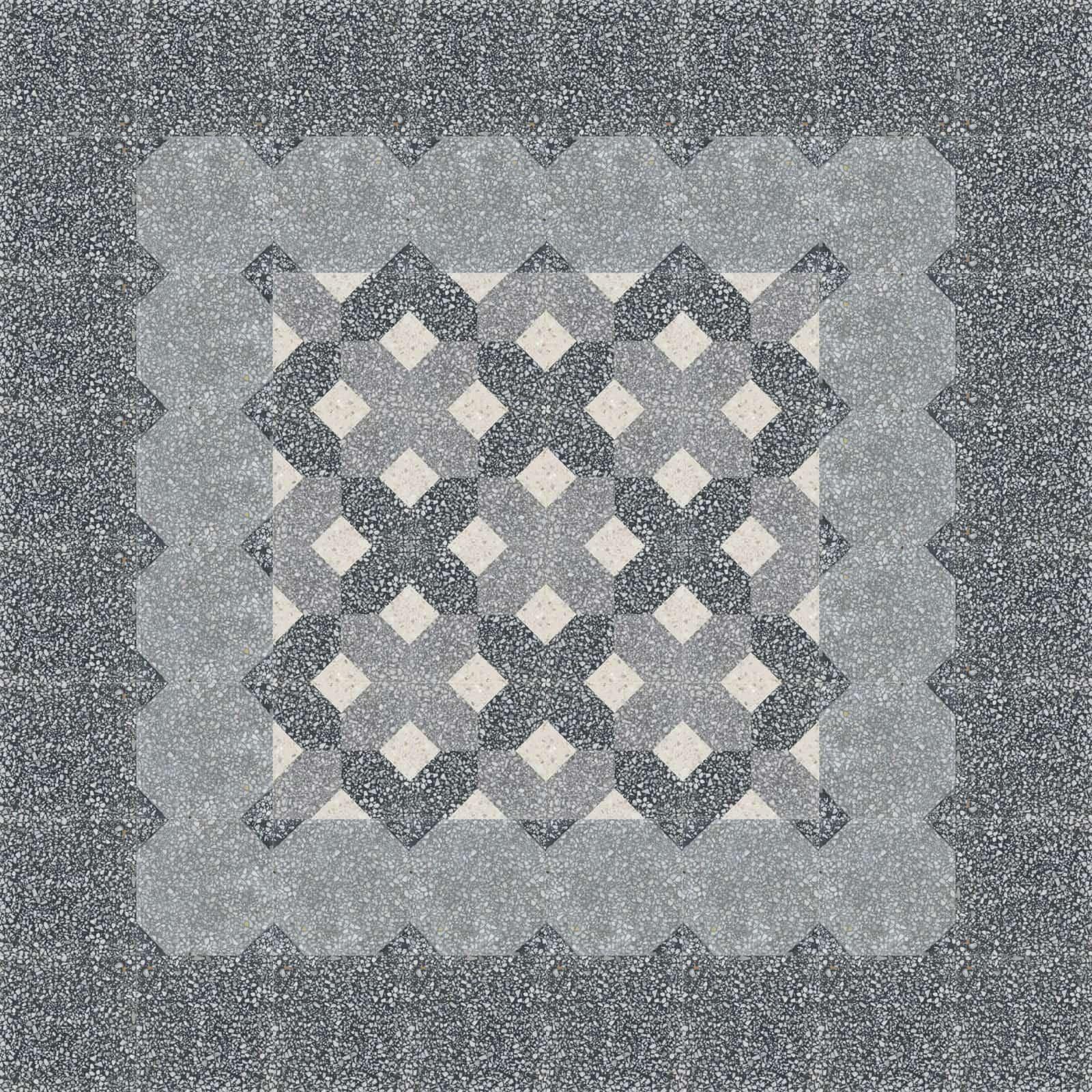 VIA_Terrazzo Grob Platten_20x20cm_910601_verlegemuster_C   910601