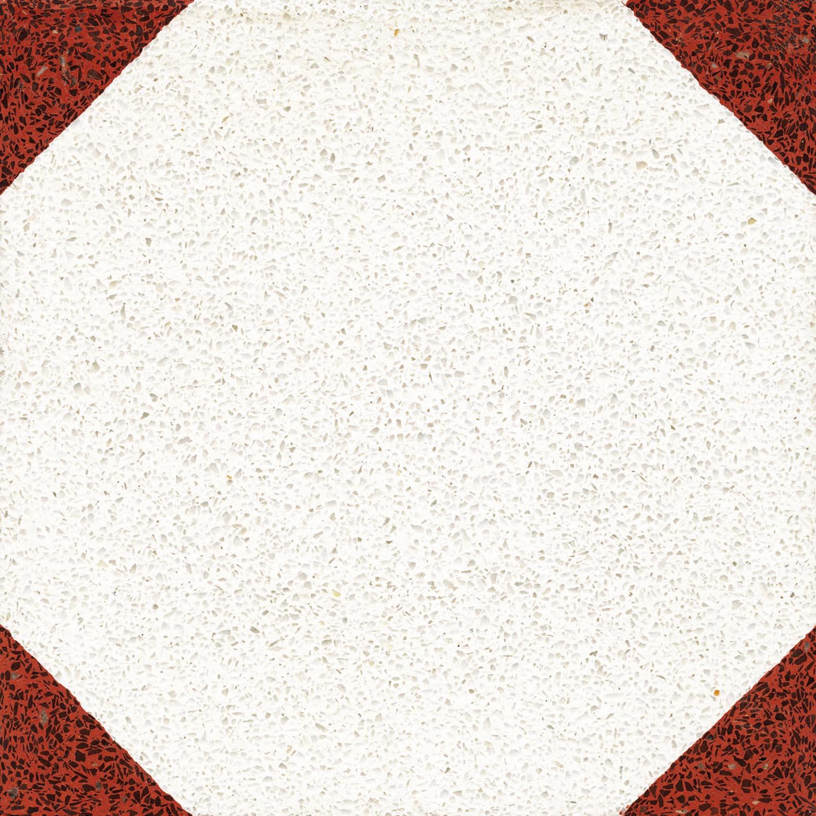 VIA Terrazzofliese mit roten Ecken