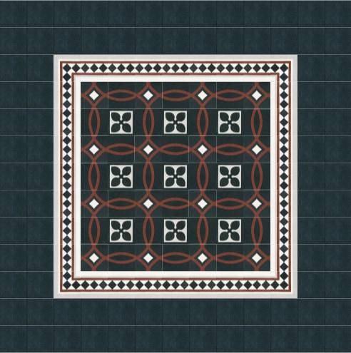 Muster aus verschiedenen VIA Terrazzofliesen