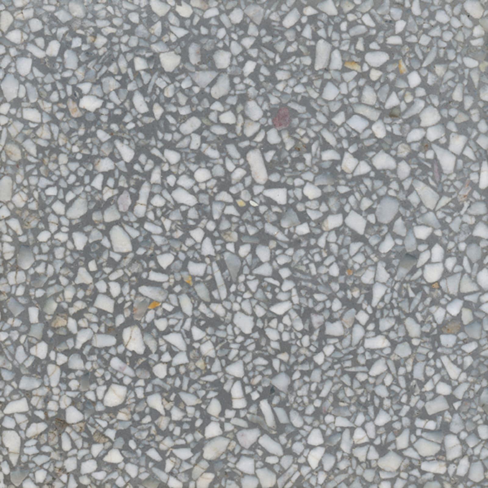 VIA Terrazzoplatte grob in grau