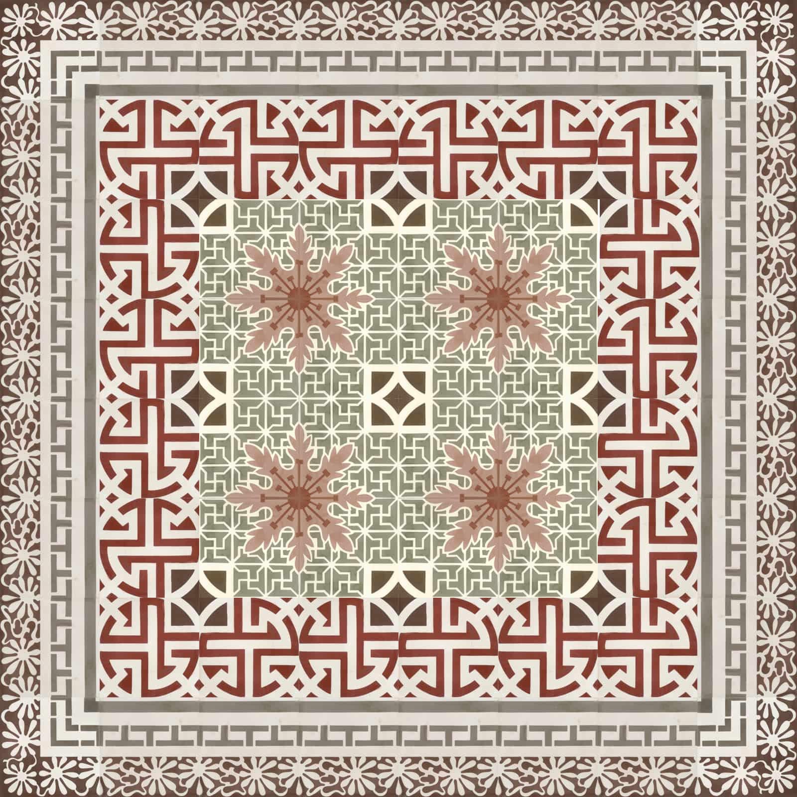 zementfliesen-terrazzofliesen-kreidefarbe-terrazzo-fugenlos-viaplatten-54072-verlegemuster | 54072