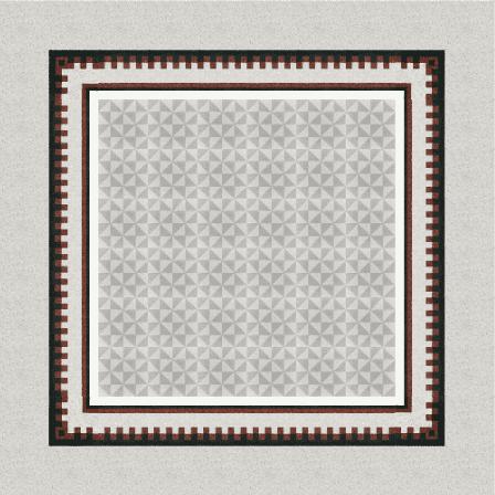 Dreiecksmuster in Grau auf einer Terrazzofliese