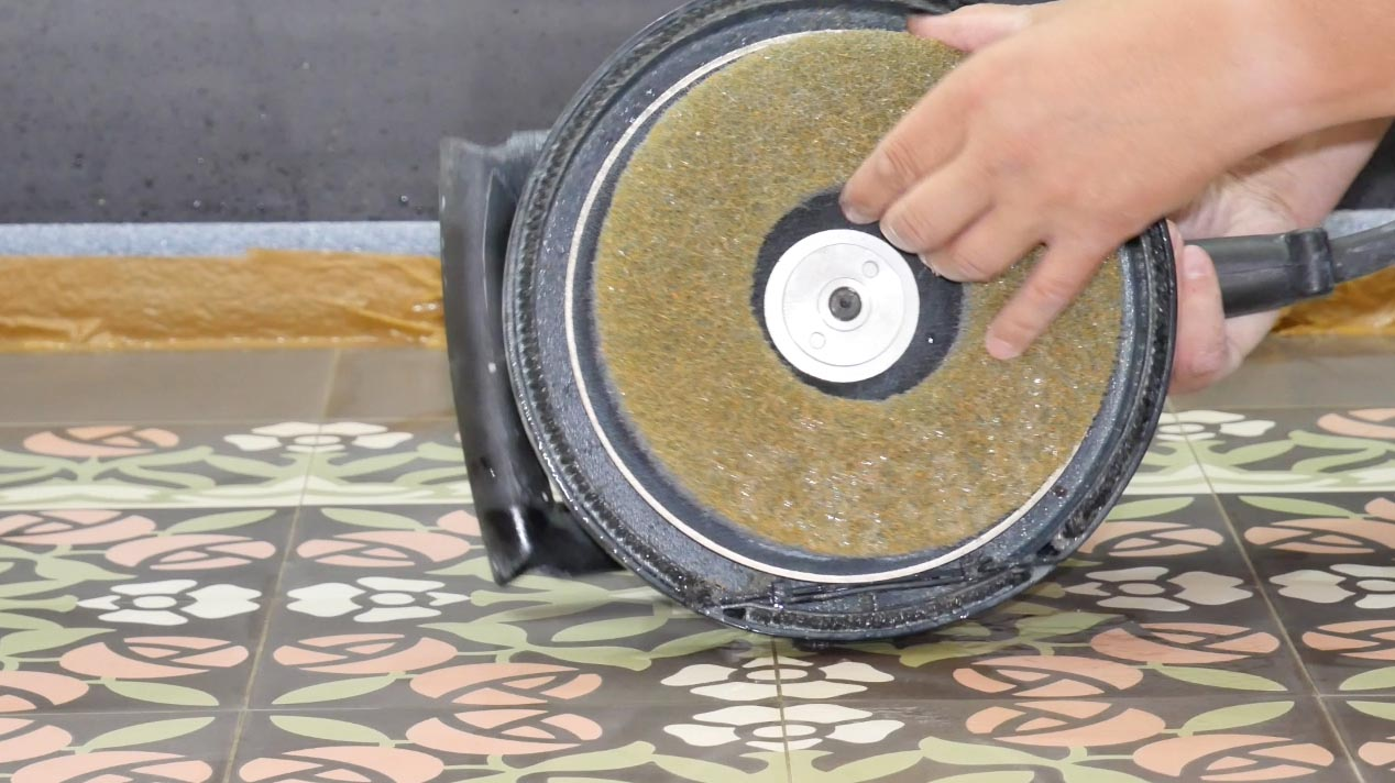 Polieren von VIA Platten