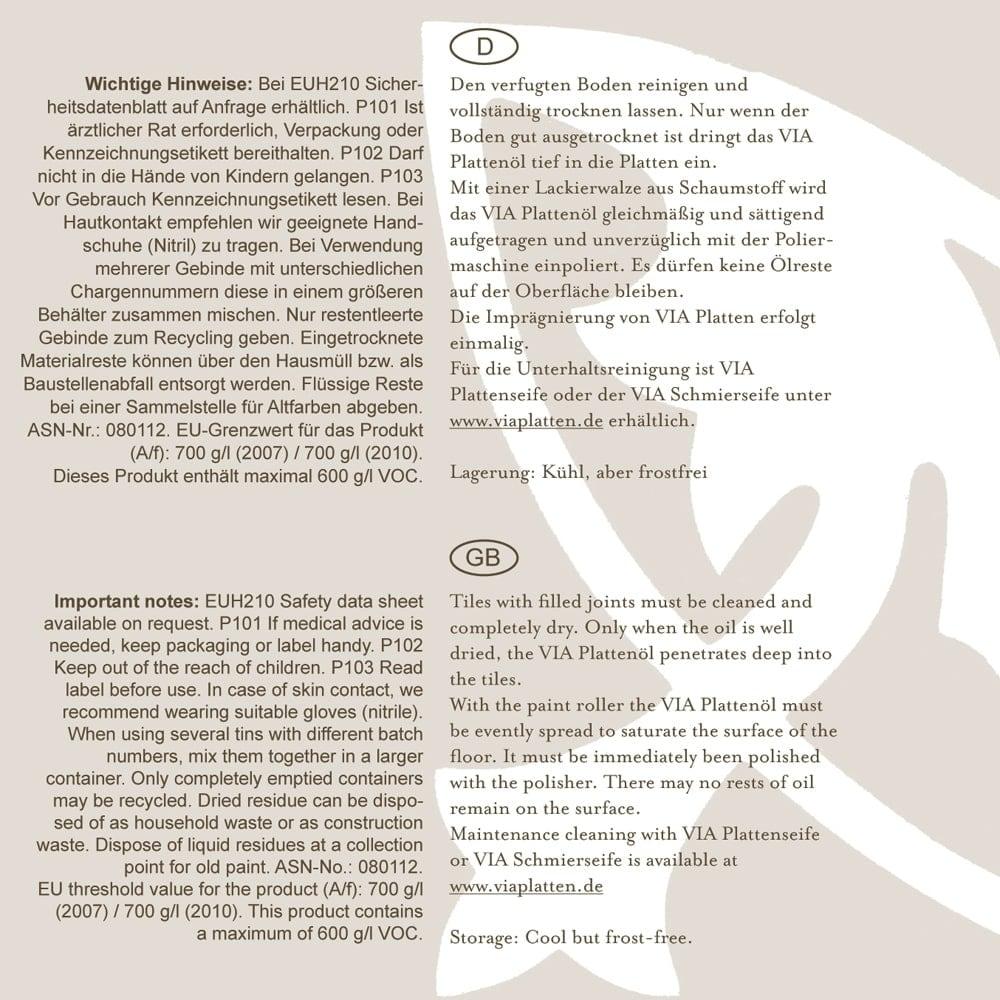 plattenoel-hinweise-gmbh | VIA Plattenöl