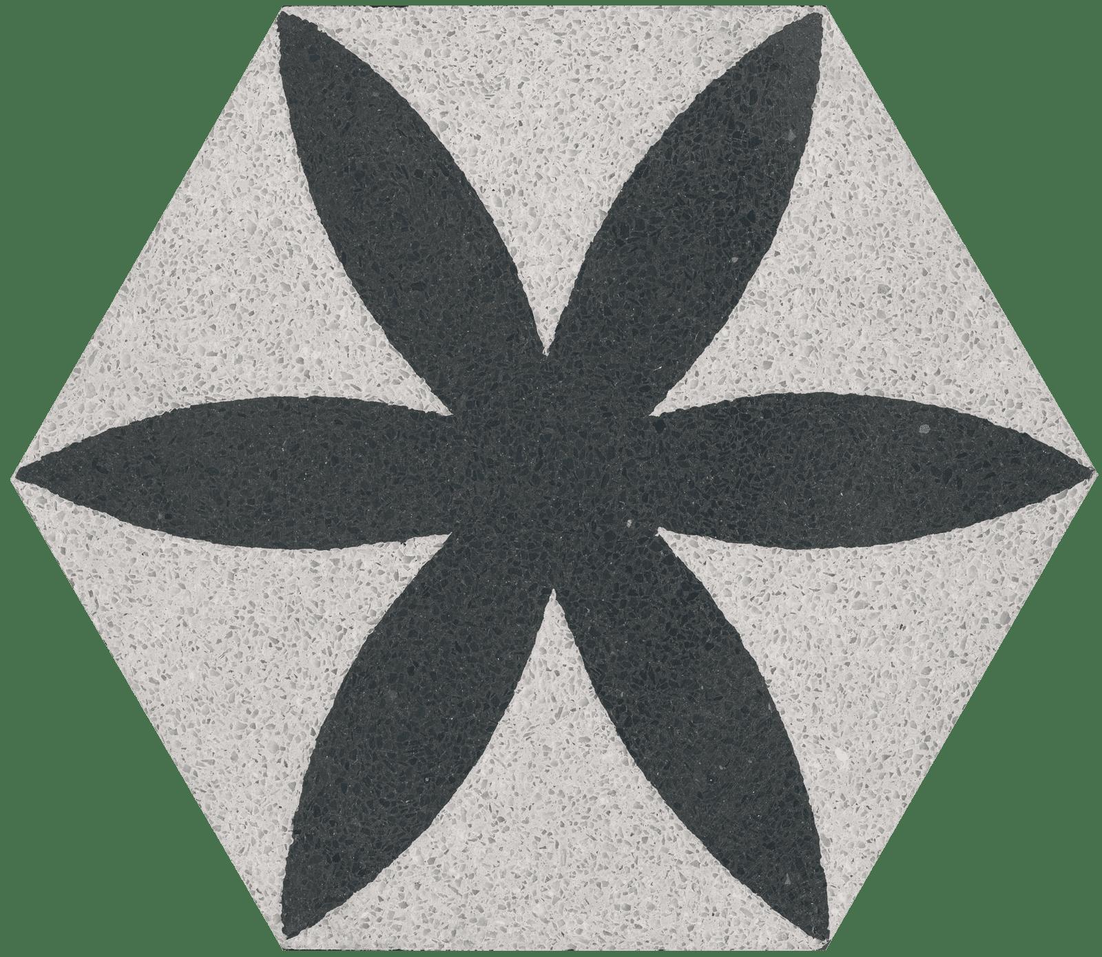 VIA Terrazzofliese 6eck mit Blume