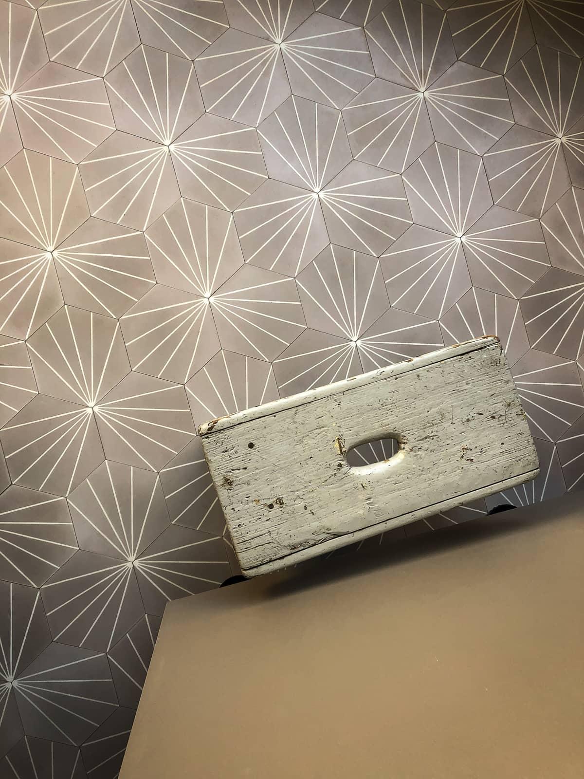 zementfliesen-viaplatten-zementmosaikplatte-sechseck-hocker-nr.600852 | 600852