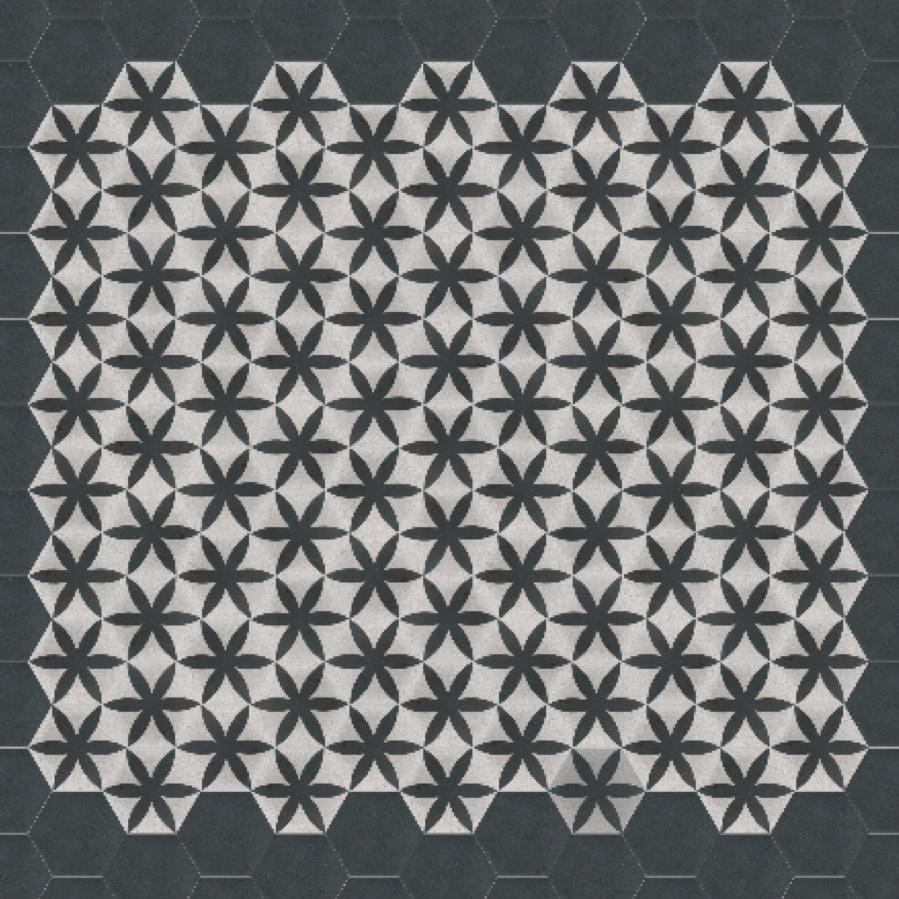 VIA Terrazzoboden mit schwarzer  Blume