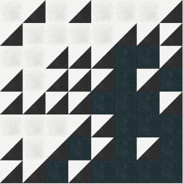 Cooles Muster aus Terrazzoplatten mit Dreiecken