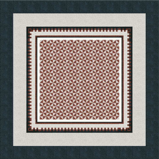 VIA Terrazzoboden mit Muster aus Dreiecken