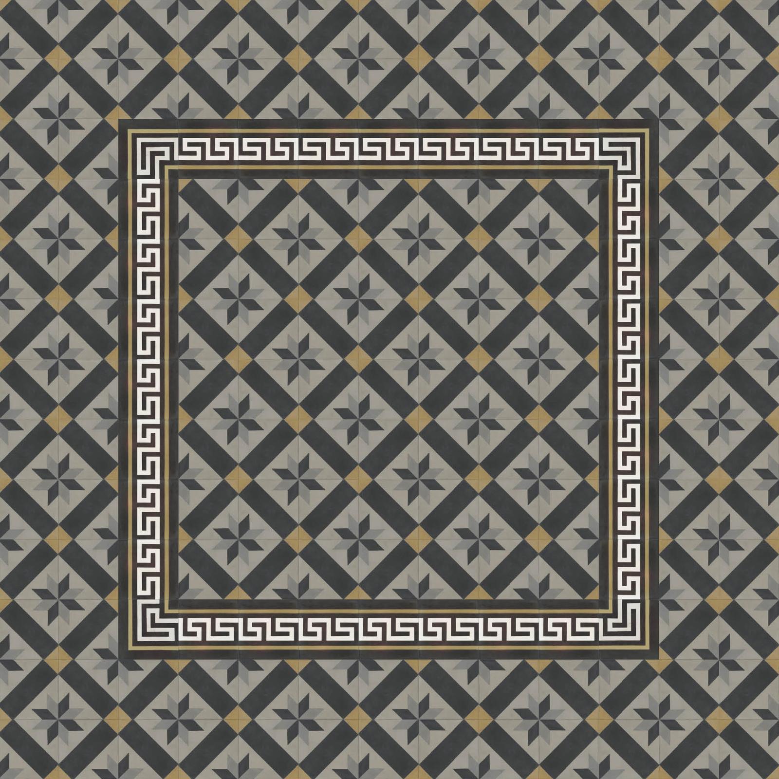 zementmosaikplatten-nr.51109-verlegemuster-mit-rand-B-viaplatten | 51109