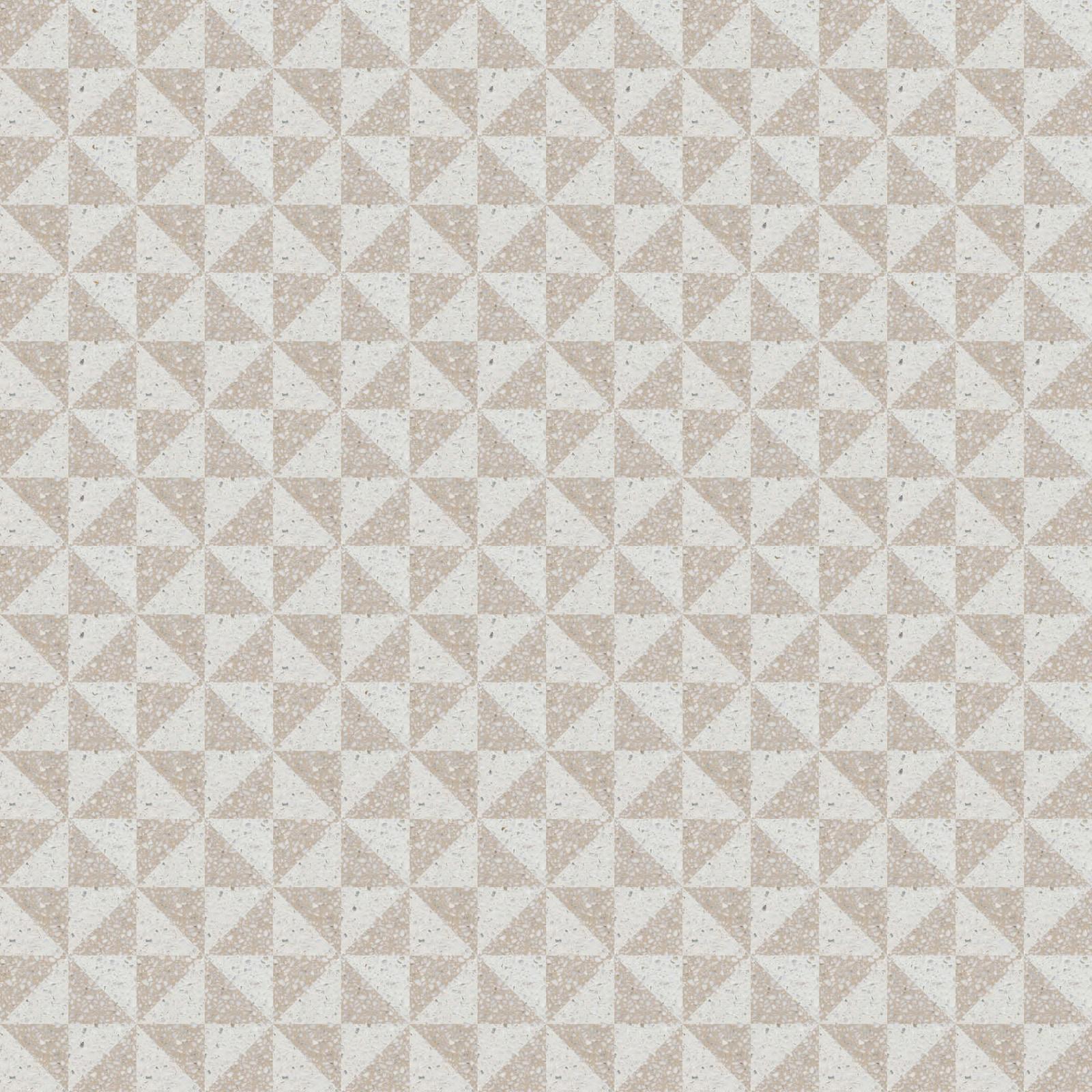 VIA Terrazzo grob in hellem Dreieck Muster
