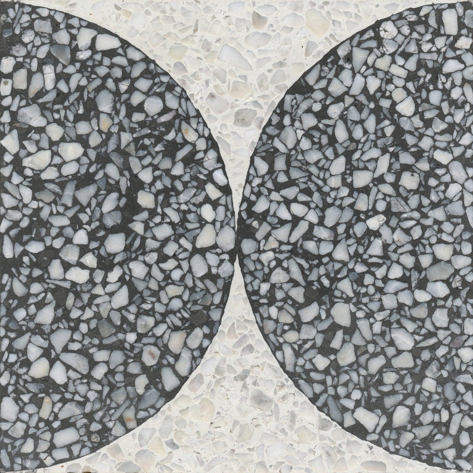 VIA Terrazzofliese grob Muster mit zwei Halbkreisen