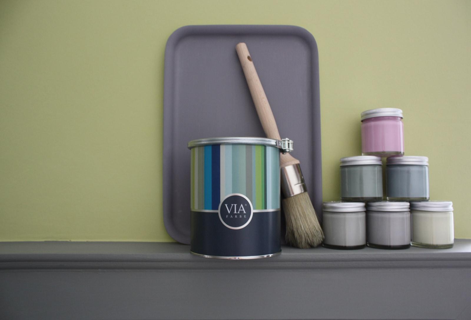 VIA-Kreidefarbe-Gläschen-Pinsel.-Dose | Kreidefarbe Kitt 60 ml