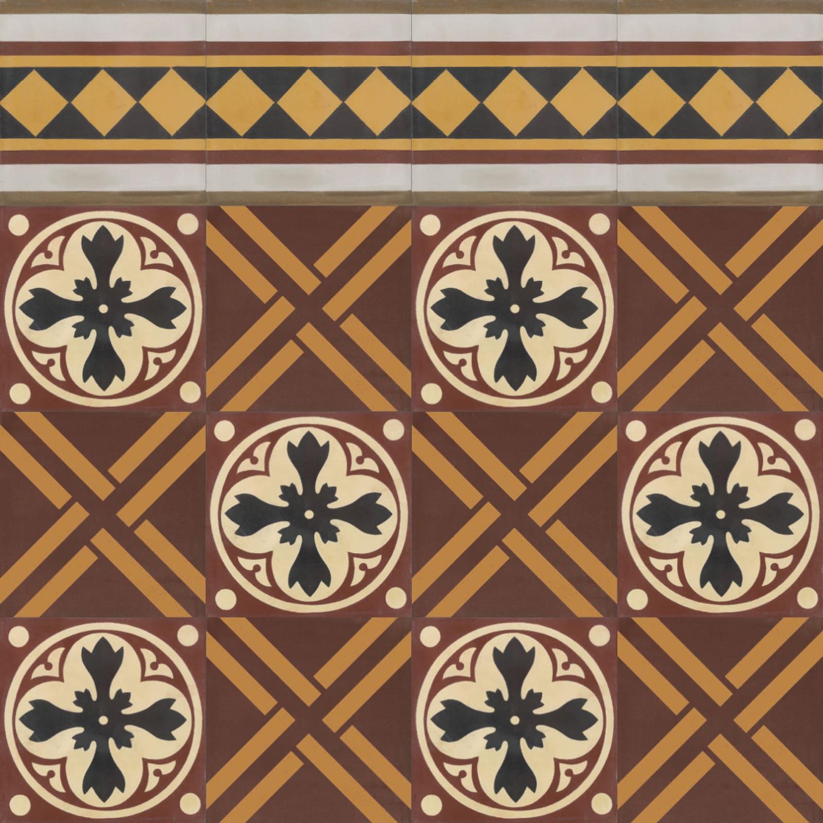 VIA-Zementmosaikplatten-nummer-51069-verlegemuster-VIA-GmbH | 51069/169