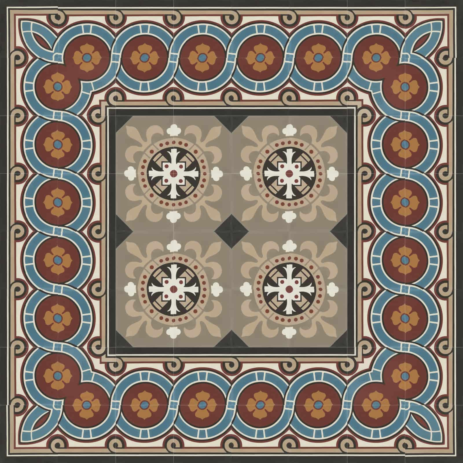 zementfliesen-verlegemuster-nummer-51166-170-viaplatten | N° 51166/170