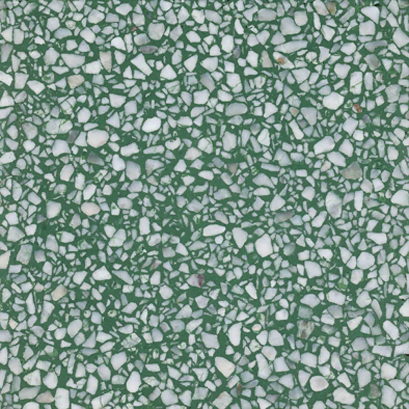 VIA Terrazzoplatte grob in dunkelgrün