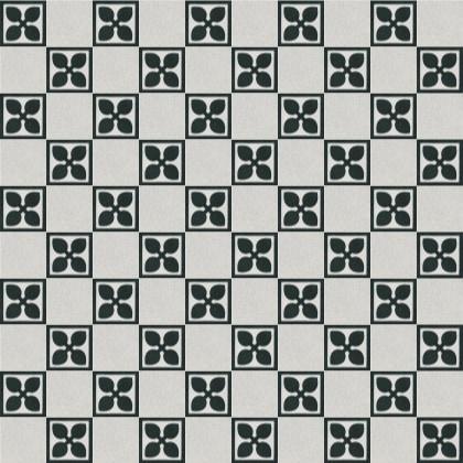 schwarz weiß Muster aus zwei Terrazzoplatten