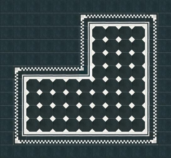VIA Terrazzo schwarz mit weißen Rechtecken