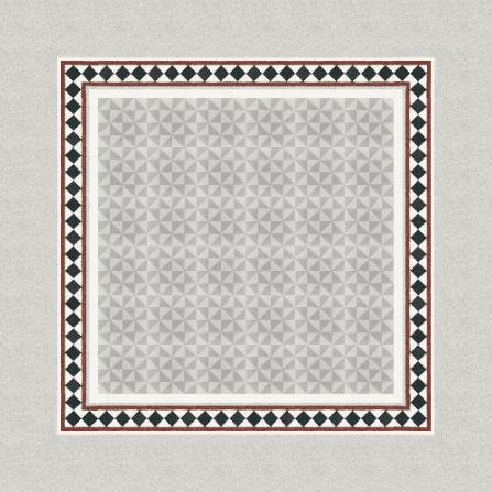 Terrazzo in Grautönen mit Muster aus Dreiecken
