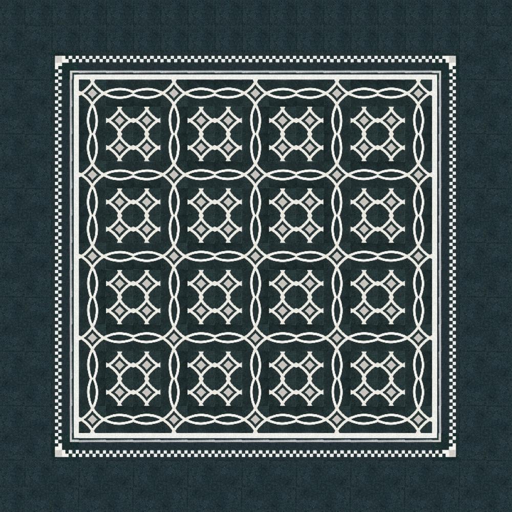 VIA Terrazzofliese schwarz mit weißen Linien
