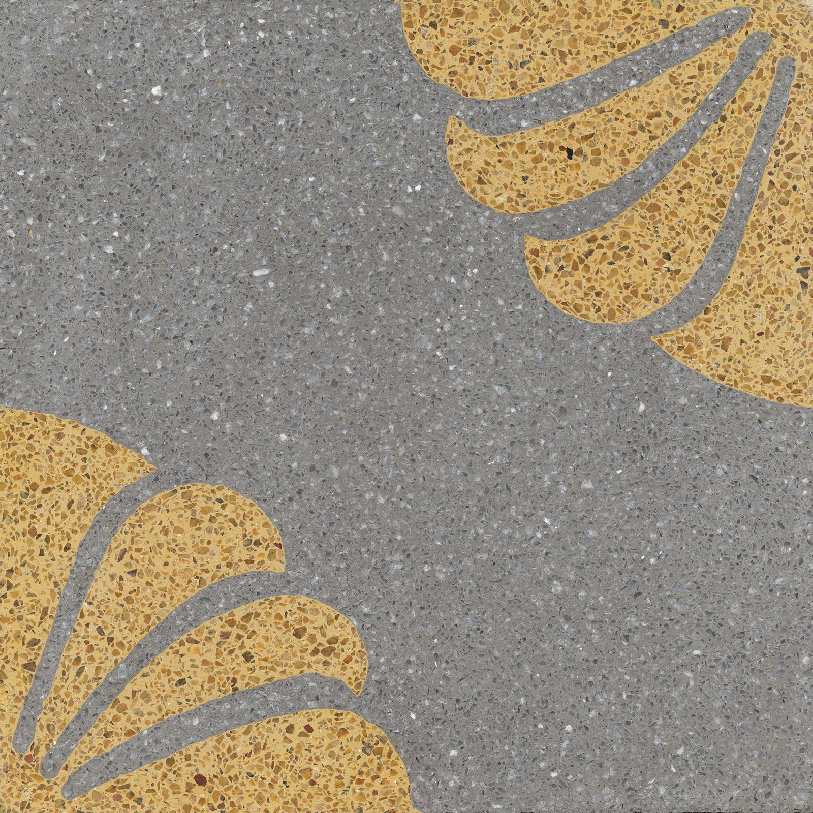 VIA Terrazzo florales Muster mit gelb