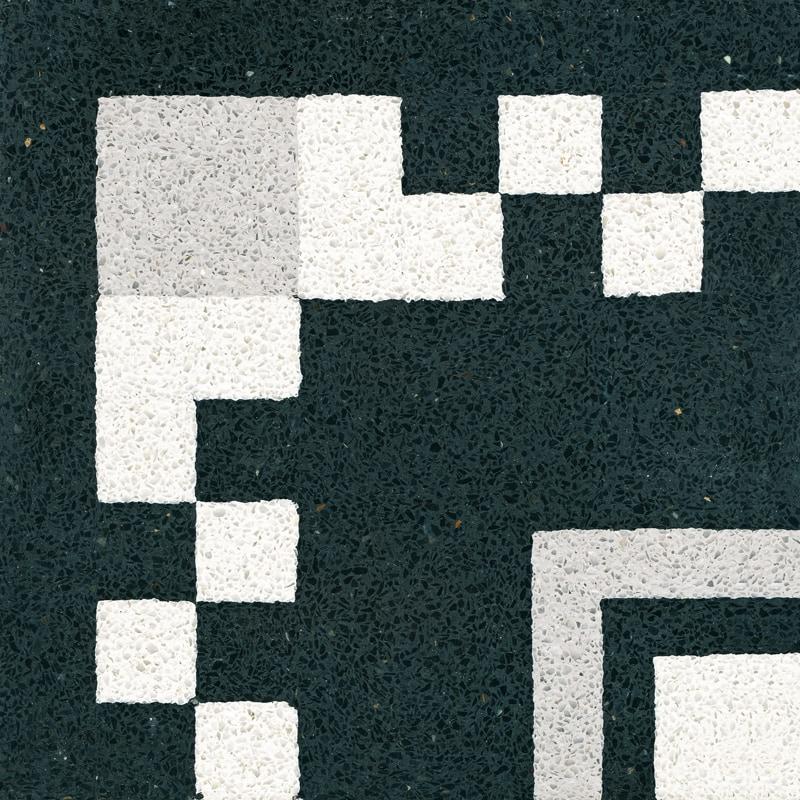 VIA Terrazzoplatte in schwarz weiß