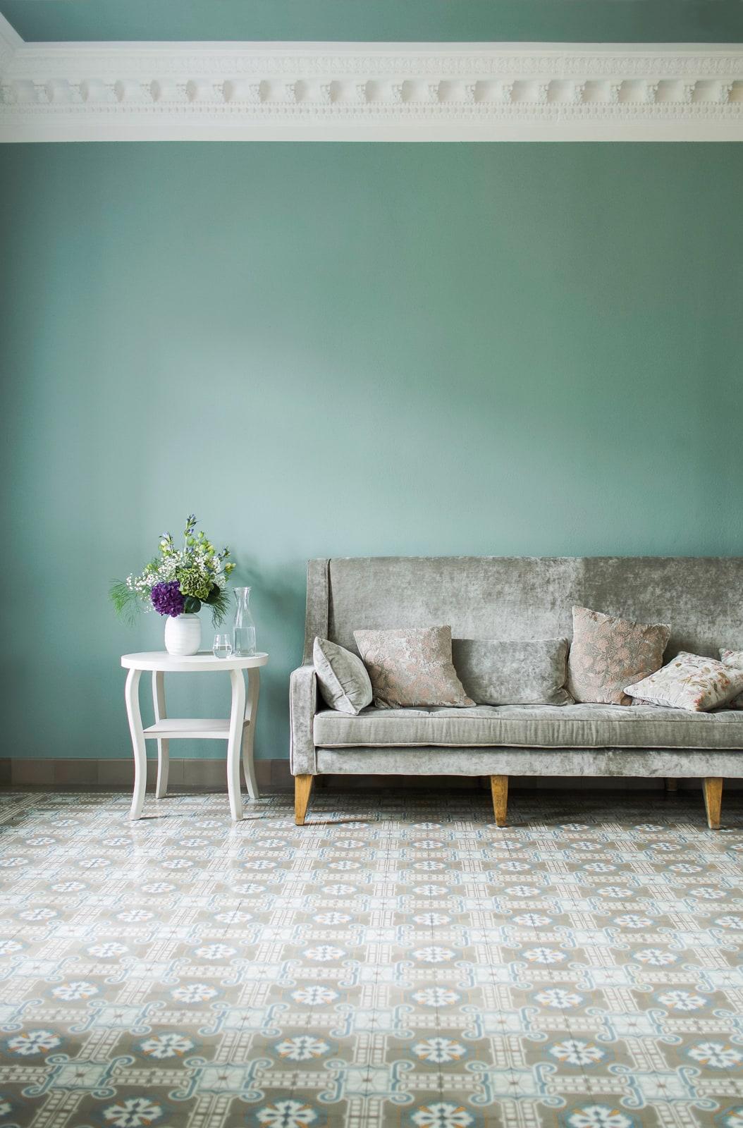zementfliesen-terrazzofliesen-kreidefarbe-blauer-salon-terrazzo-fugenlos-viaplatten | Kreidefarbe Blauer Salon 60 ml