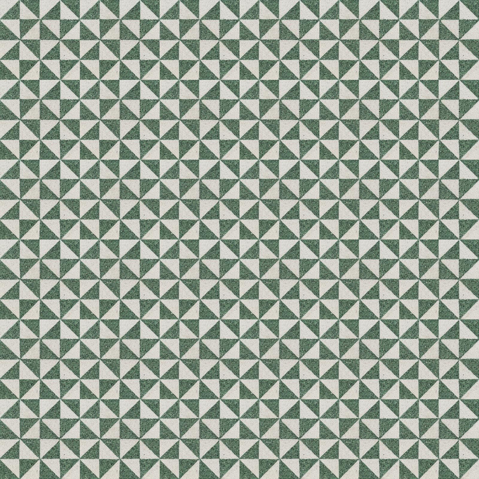 VIA Terrazzoplatten in grün und weiß